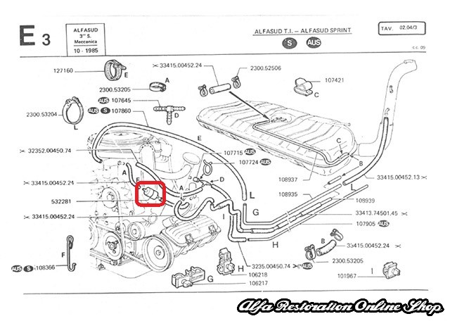 Alfa Romeo Engine Cooling Diagram : Alfa romeo spider engine diagram wiring diagrams image