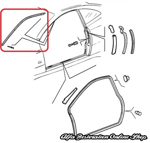 Alfa Romeo Spidergtv 1995 2005 Models Windscreen Metal Trim This Is The Found On Left Side Of Windscreenpillar: Wiring Diagram Alfa Romeo Gtv6 At Hrqsolutions.co