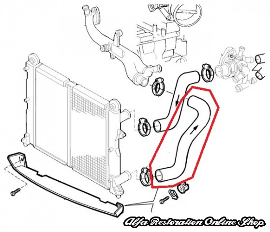 Alfa 145146 161820 Twin Spark Lower Radiator Hose Restoration Online Shop Romeo Milano Power: Alfa Romeo Milano Gold Wiring Diagram At Johnprice.co