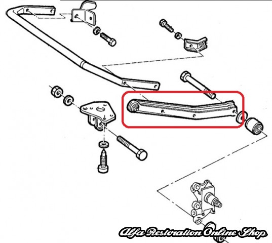You Can Add The Stabilizer Bar For An Additional 79: Alfa 164/FIAT Croma Rear Sway Bar Left Arm, Alfa